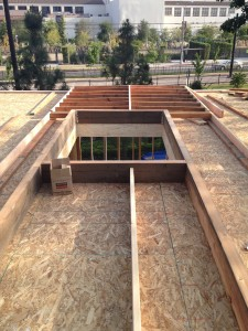 fluxHome is being built on the South Lawn, near Exposition Boulevard.