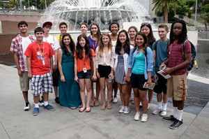 Summer@USC journalism program participants (Photo/Alan Mittelstaedt)
