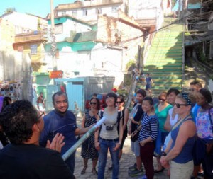 USC Price master's students examine Rio de Janeiro as part of the Brazil Lab, led by Senior Fellow Frank Zerunyan.