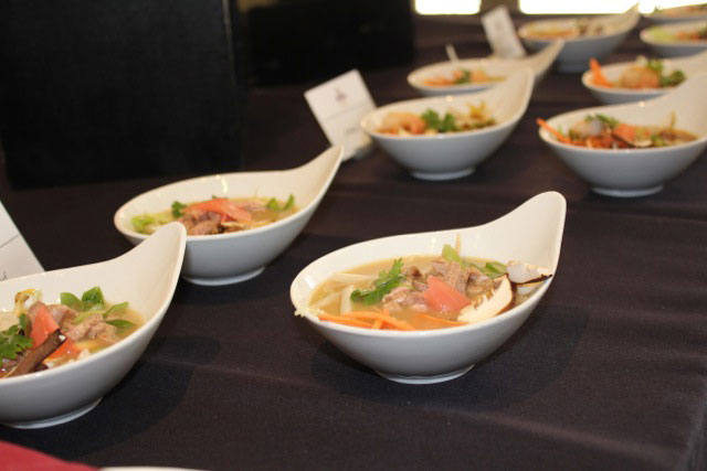 Vegetarian noodle bowls will be offered at Tutor Cafe. (USC Photo/Madisen Keavy)