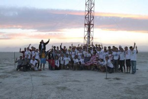 Members of the USC Rocket Propulsion Lab in the Black Rock Desert (Photo/Elizabeth Bayne)