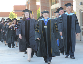 USC Rossier alum Bill Bonaudi led commencement for 17 years at Big Bend Community College. (Photo/courtesy of USC Rossier)