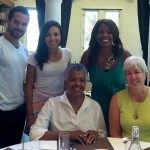 Patrick Tully, Ailin Dayani, Catana Tully, Natasha Cole and Beverly Younger at the USC University Club