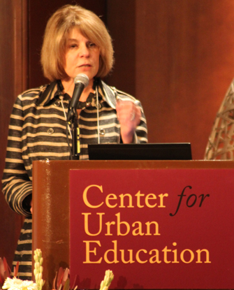 Estela Mara Bensimon, co-director of the Center for Urban Education, was among the USC Rossier representatives at the conference focusing on Hispanic-Serving Instiutions (Photo/Emily Ogle)