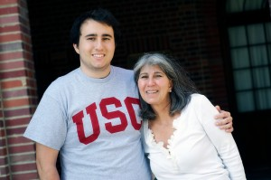 Duncan Chalfant is the third of Michele Chalfant's sons to attend USC. (USC Photo/Dietmar Quistorf)