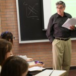 Professor Michael Dawson teaches a class on emotion and the heart. (USC Photo/Matt Meindl)
