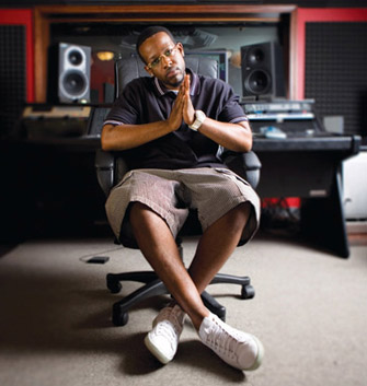 Rapper Jabari Evans, a Master of Social Work Student, has received a grant to help fund the Brainiac Project, a haven for at-risk youth who have an interest in the music industry. (Photo/John Sturdy Magnum)