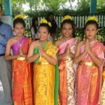 EdD candidate Jim Feigert with traditional Thai dancers (Photo/courtesy of USC Rossier School of Education)