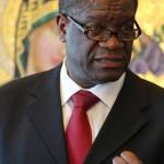 Denis Mukwege speaks to the USC community at the Caruso Catholic Center. (USC Photo/Larissa Puro)