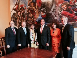 Schwarzenegger met with high-ranking officials to protect federal funding of after-school programs. (Photo/courtesy of USC Price)