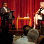 CREATE Associate Director Erroll Southers with USC Trustee and former U.S. Rep. Jane Harman (USC Photo/Srdjan Simonovic)