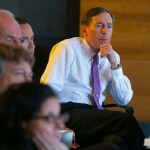 Gen. David Petraeus at a meeting with members of USC CREATE (USC Photo/Tom Queally)
