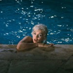 Photographer Lawrence Schiller's famous picture of Marilyn Monroe in a pool (Photo/© Lawrence Schiller. All photographs courtesy of Fahey Klein in Los Angeles, CA)