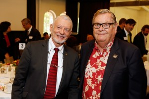 McFadden with Economics Leadership Council member Charles Isham, who made a key donation to USC Dornsife's Department of Economics (USC Photo/Steve Cohn)