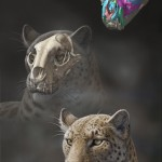 Life reconstruction of Panthera blytheae based on skull CT data (Illustration/Mauricio Antón)