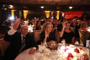 Eric Strom, Eileen Goodis and USC Provost Elizabeth Garrett (USC Photo/Steve Cohn)