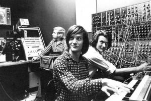 Gino Piserchio at a Moog Synthesizer