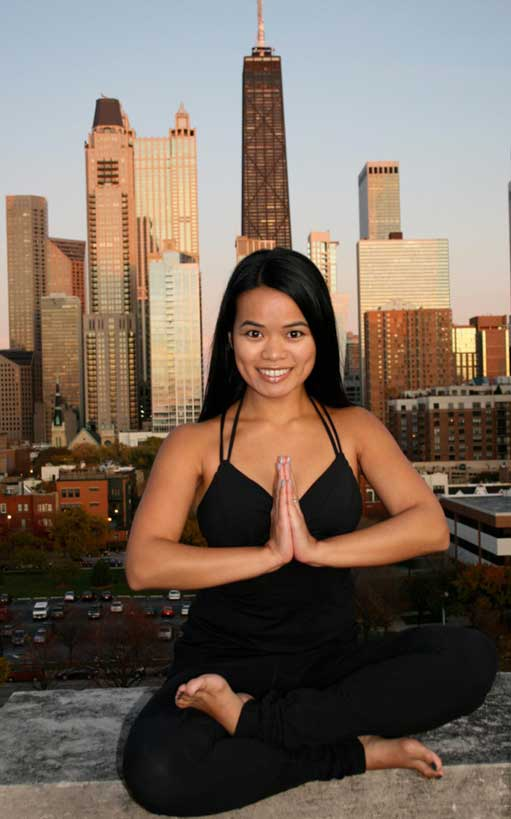 Two of the passions in the life of USC Rossier alumna Regina Abesamis are education and yoga. (Photo/courtesy of USC Rossier)