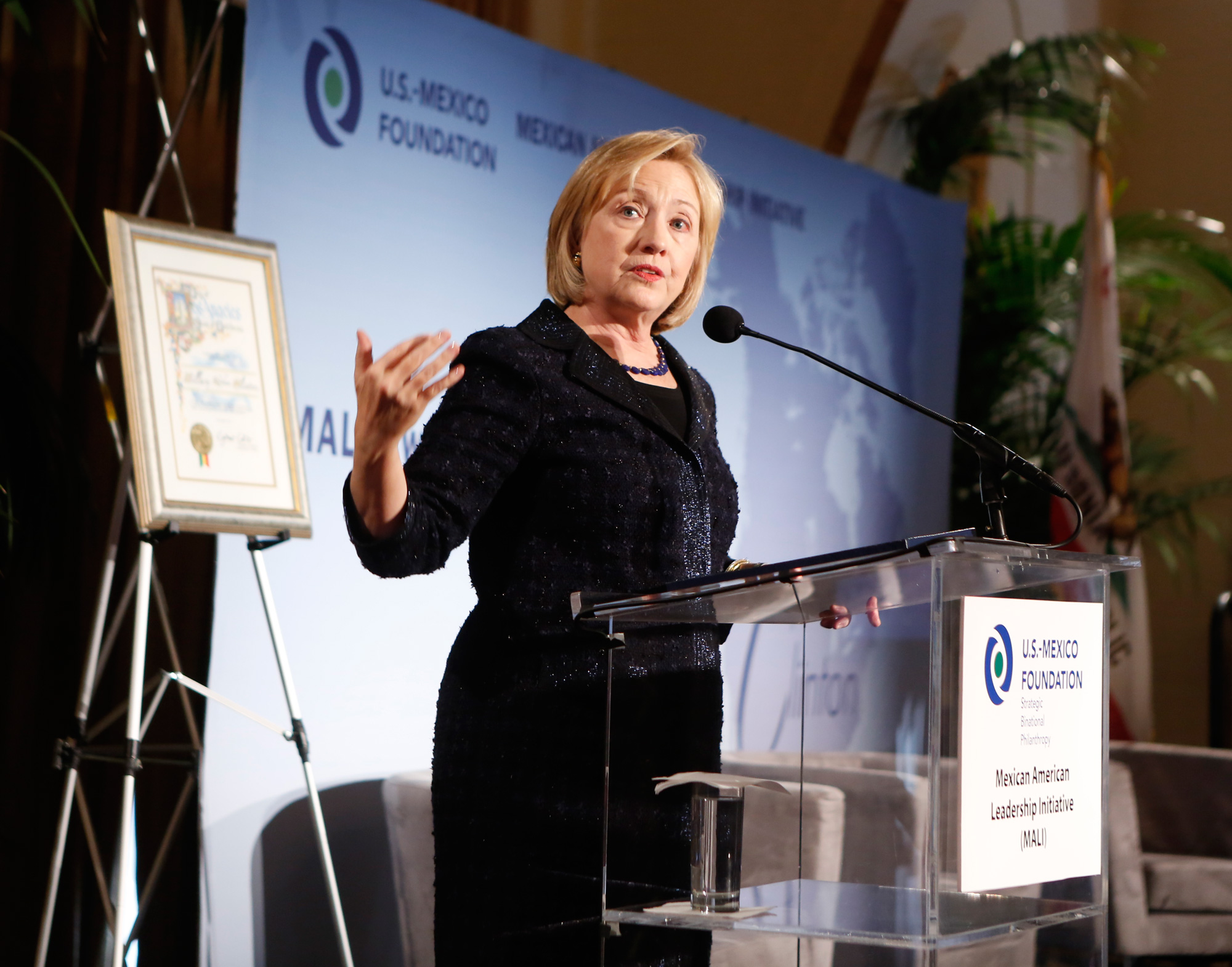 Hillary Clinton honored by US-Mexico Foundation - USC News