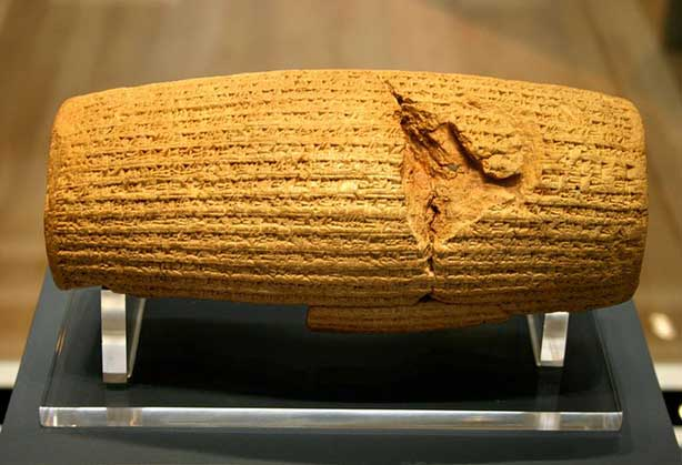 The Cyrus Cylinder is acknowledged as the world's first written declaration of human rights and religious tolerance. (Photo/Mike Peel)