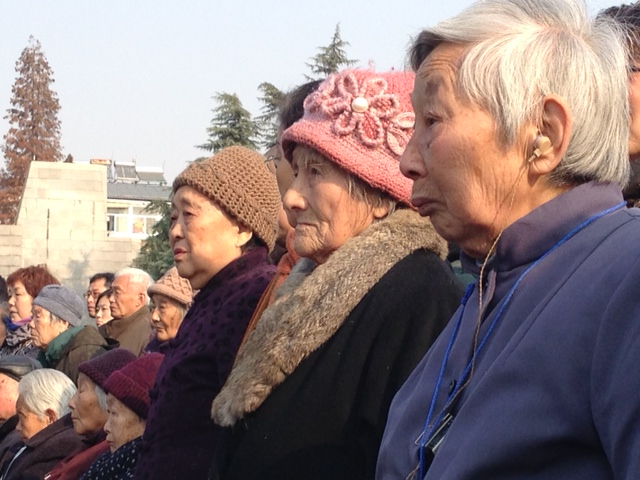 Survivors of the Nanjing Massacre attend a ceremony in China marking the 76th anniversary of the event.