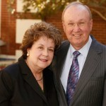 Linda and Harlan Martens, who met at USC, have a long association with the Huntington Library. (USC Photo/Steve Cohn)