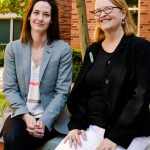 Emily Putnam-Hornstein and Jacquelyn McCroskey are developing the Children's Data Network. (USC Photo/Eric Lindberg)