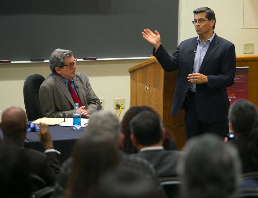 Roberto Suro and Rep. Xavier Becerra