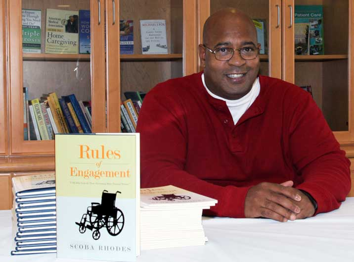Master of Social Work Student Scoba Rhodes' book gives readers a look into his emotional state during the healing process. (Photo/VA Long Beach Medical Center)