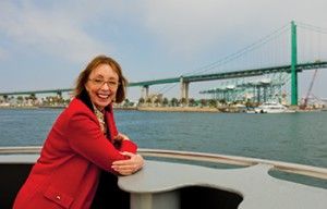An environmental engineer, marine biologist and accomplished scuba diver, Knatz brought a fresh perspective to her duties as port director. (Photo/John Livzey)