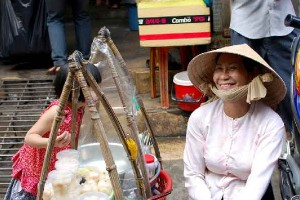 sweets vendor in Ho Chi Minh Cit