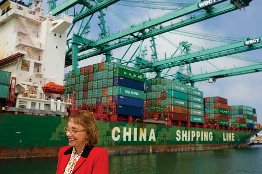 Geraldine Knatz and her team have transformed the nation's busiest commercial port into the nation's greenest while continuing to implement strategies to maintain its No. 1 status. (Photo/John Livzey)
