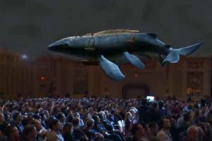 3-D projection of a flying leviathan