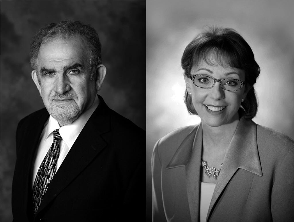 Iraj Ershaghi and Geraldine Knatz