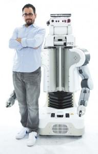 Juan Fasola and his PR2 robot