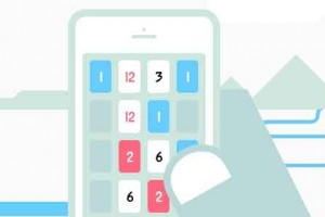 a screen from the game Threes!