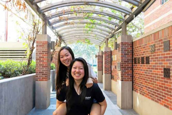 Adrienne Liu, left, and Shinnie Tu