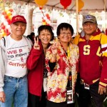 James Yee, Candy Yee '68, MS '69, sister Patti Poon '65 and Dudley Poon at last year's Homecoming (USC Photo/Two Eleven Photography)