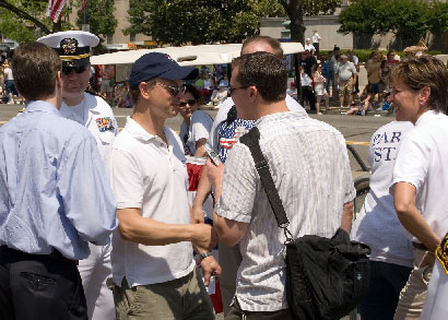 Gary Sinise at Memorial Day celebration