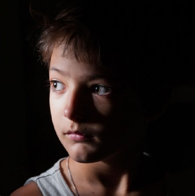 young boy's profile