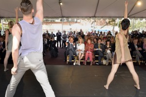 Dancers perform at groundbreaking