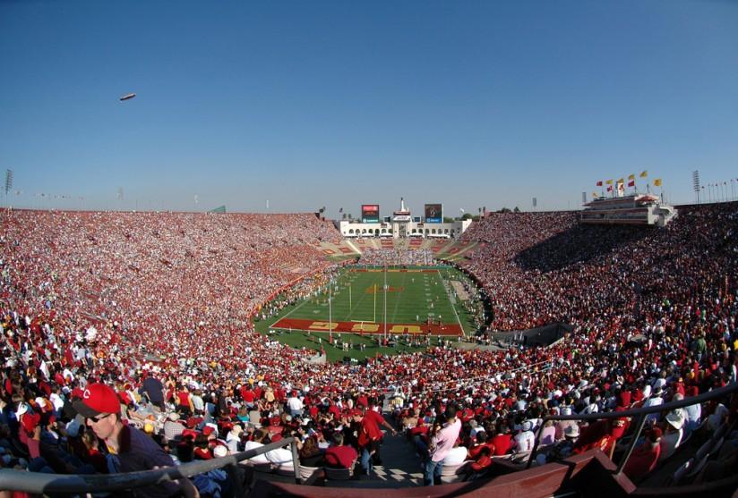 Aerial LA Coliseum