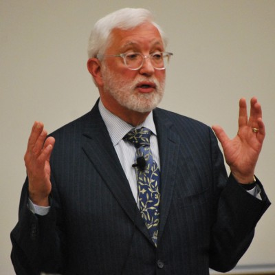 Judge Jed Rakoff delivers a lecture.