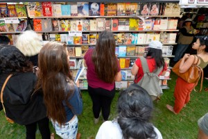 Booklovers visit the 2014 Festival of Books.