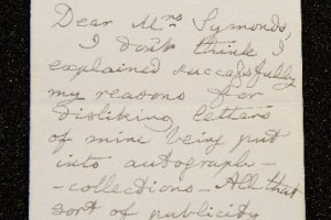 Lewis Carroll letter
