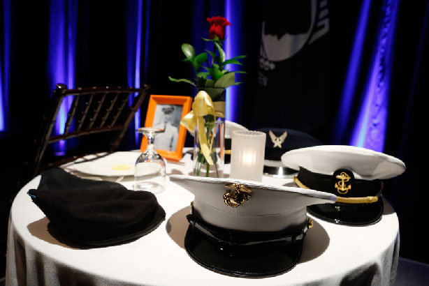 MIA-POW table at veterans dinner