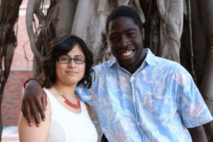Trojan Guardian Scholars Lucero Noyola and Michael Boateng
