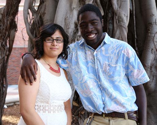 Trojan Guardian Scholars Lucero Noyola and Michael Boateng