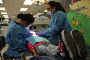 Taking a seat in the dentist's chair can be traumatic for children with autism. (USC Photo/Beth Newcomb)
