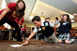 USC senior Christine Burcelis at Penny Harvest Academy